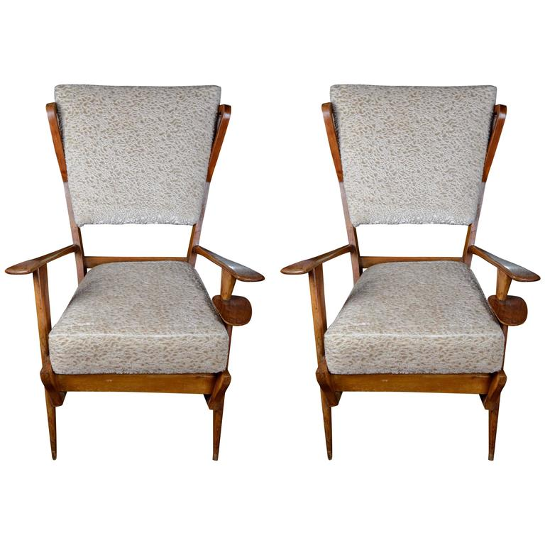 Pair Of Italian Vintage Armchairs For Sale At 1stdibs
