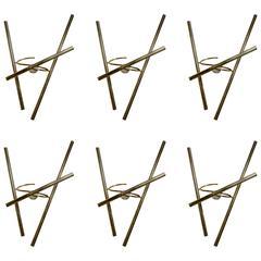 Set of Six Brass Sconces by Diego Mardegan