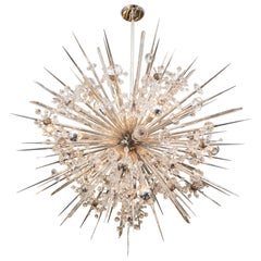 Austrian Crystal Starburst Sputnik Chandelier