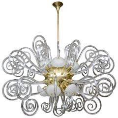 Chandelier in Murano Glass