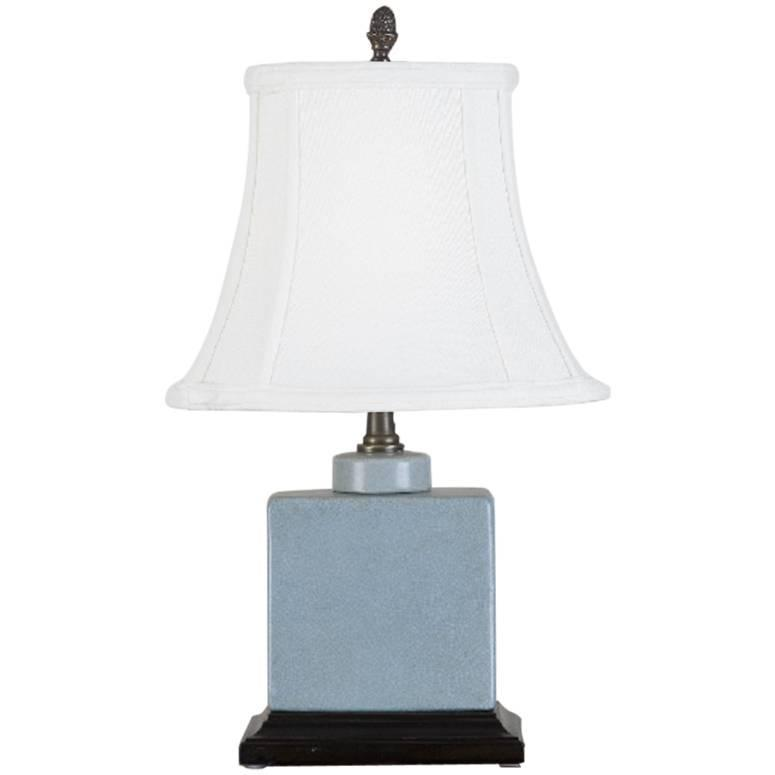Small Square Light Blue Table Lamp For Sale At 1stdibs