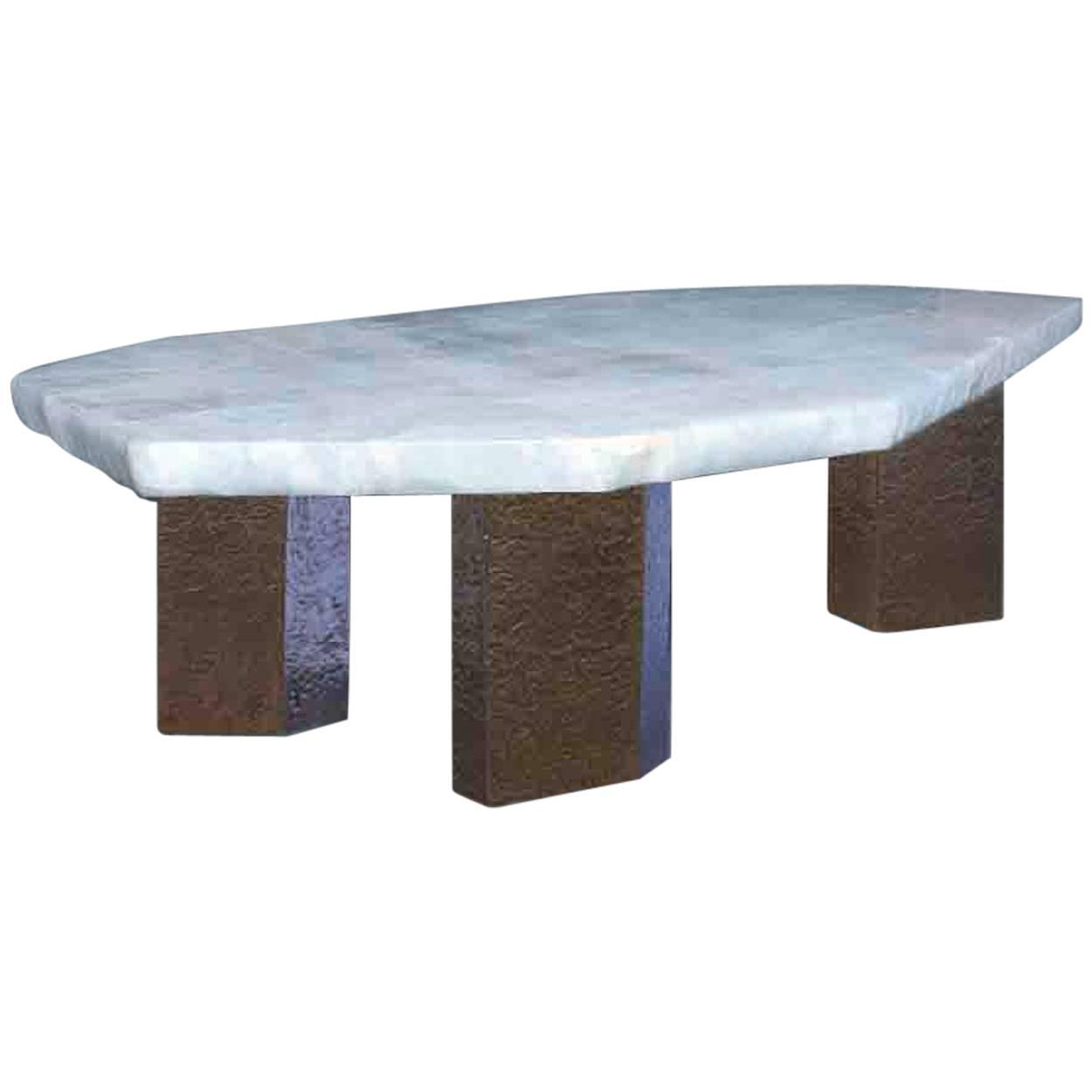 Polygon Form Rock Crystal Low Table Designed By Adam Fuks