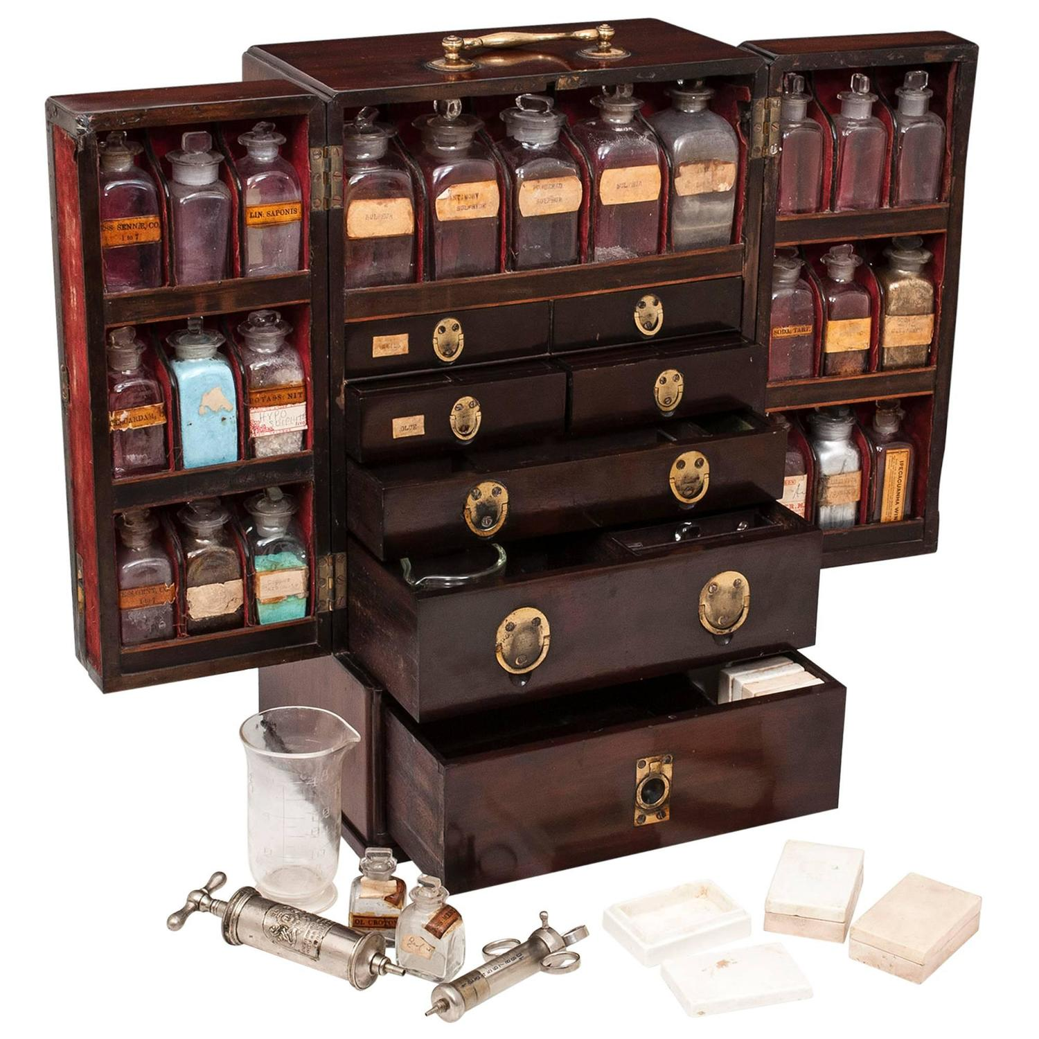 Charmant Large Apothecary Cabinet At 1stdibs