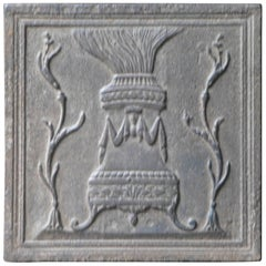 19th Century French Fireback Pot of Fire