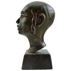 Bronze, Jew in Profile on Base, circa 1900