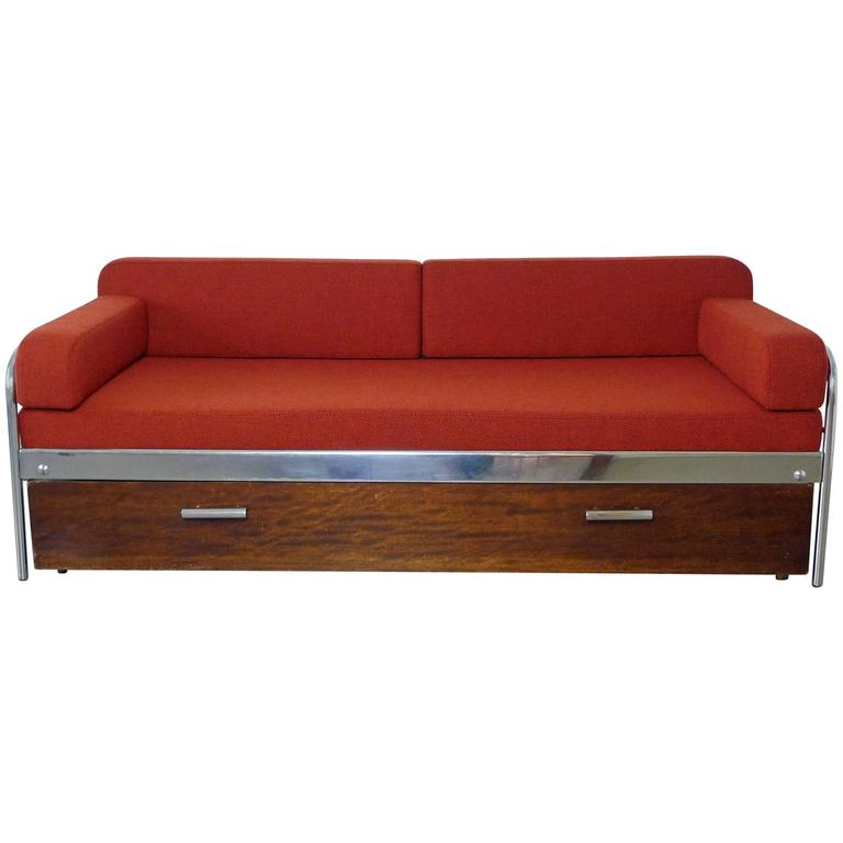 1930s bauhaus steel tube sofa bed by mucke and melder for Bauhaus sofa bed