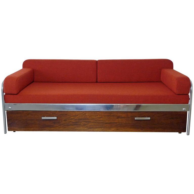 Superb 1930s Bauhaus Steel Tube Sofa Bed By Mücke U0026 Melder, Czechoslovakia 1