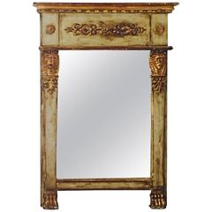 French Empire Style Carved and Parcel-Gilt Mirror