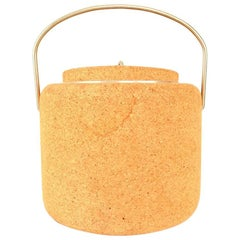 1970s Cork Ice Bucket by Signe Persson Melin for Boda Nova Sweden, Midcentury
