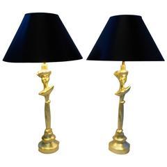 Sirmos Masque Table Lamps Giacometti Design