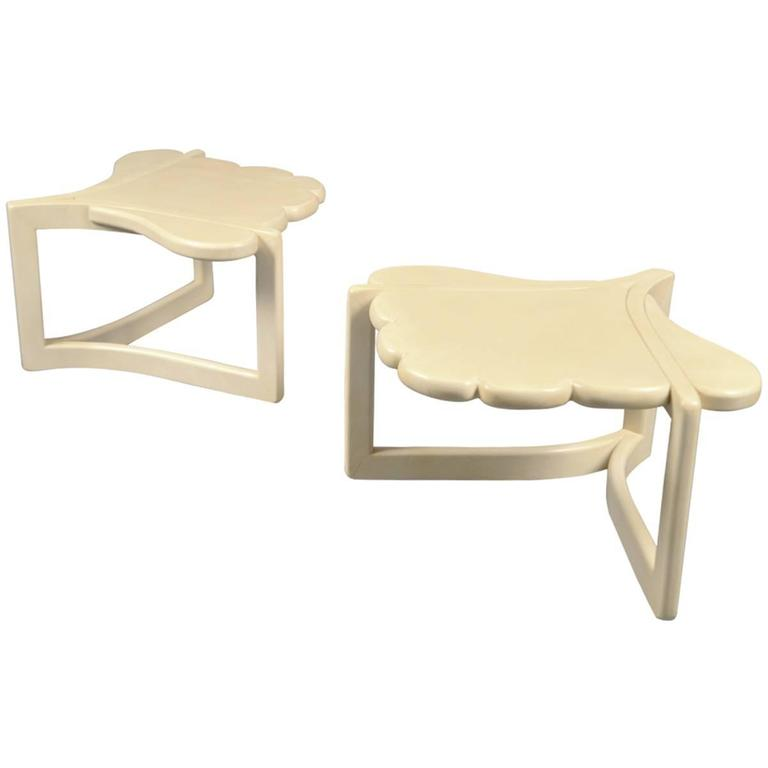 Pair of Side Tables by Enrique Garcel, Colombia, 1960s