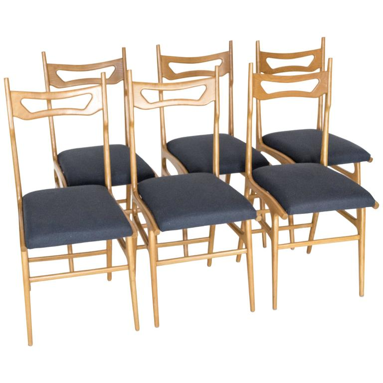 Set of Six Italian Dining Chairs