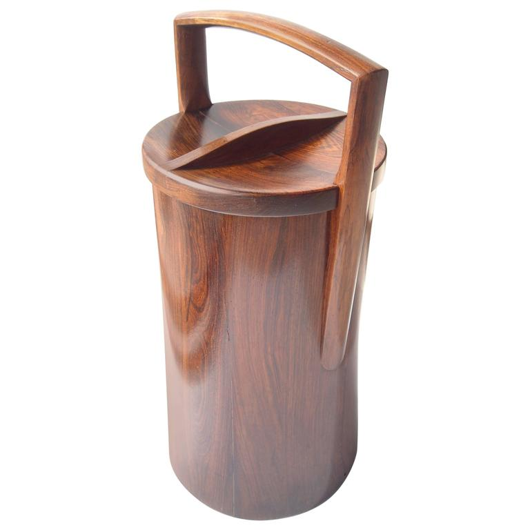 Rosewood, Palisander Tall, Ice Bucket by Jens Quistgaard for Dansk, Stamped