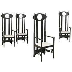 Four Ash Chairs with Armrests by Rennie Mackintosh for Heart of Denmark, 1990s