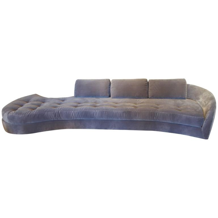 Long serpentine sofa for sale at 1stdibs for Long couches for sale