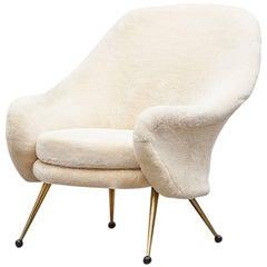 Rare Marco Zanuso Martingala Lounge Chair