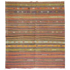 Vintage Turkish Kilim Flat-Weave