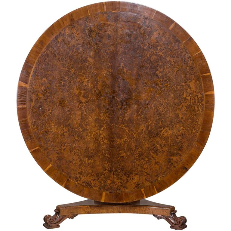 Antique English Pollard Oak and Yew Tilt Top Table circa  : 4436043l from www.1stdibs.com size 768 x 768 jpeg 77kB
