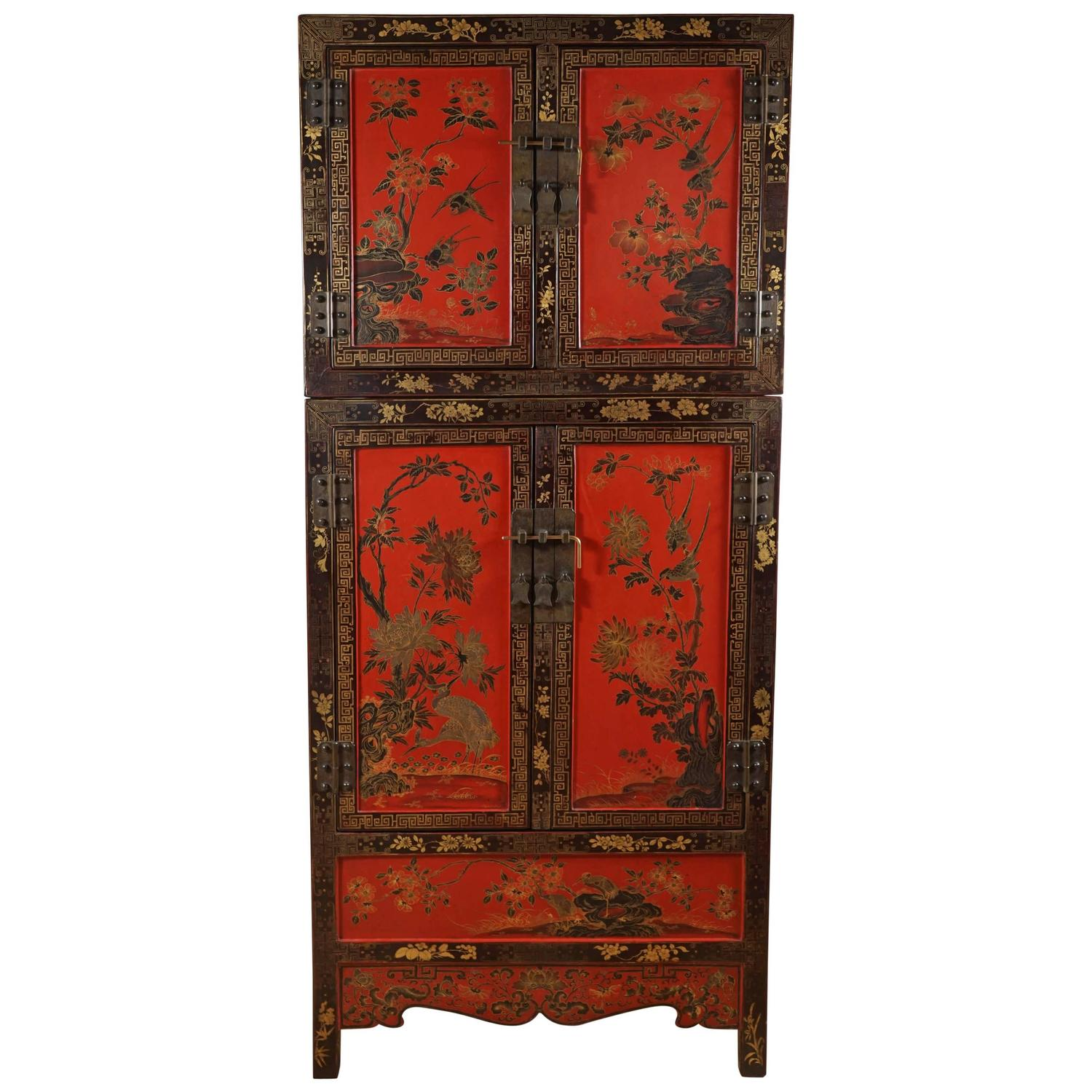 chinese lacquer cabinet at 1stdibs