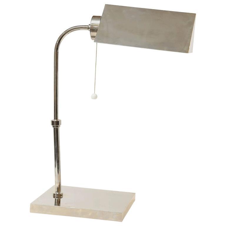 Art Deco French Chrome Desk Lamp