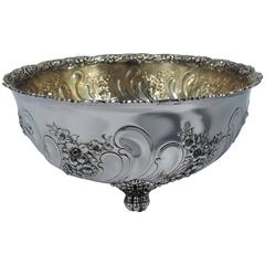 Sumptuous Gilded Age Sterling Silver Bowl by Tiffany