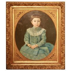 Early 19th Century New England Portrait Signed Roy Ulysso