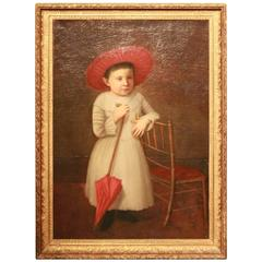 Early 19th Century American Folk Art Portrait from New England