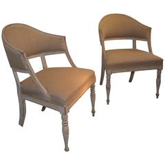 Pair of Period Gustavian Armchairs
