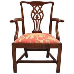 Good 18th Century Chippendale Mahogany Armchair