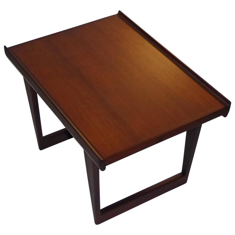 1960s Peter Løvig Nielsen Teak Fin Edge Coffee Side Table 1