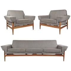 Vintage Modern Johannes Andersen Sofa and Lounge Chairs for Trensum