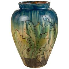 Vase by Thorvald Bindesbøll Art Nouveau, Denmark, circa 1891