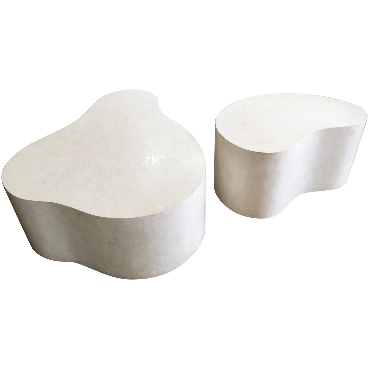 "Set of Three Extraordinary ""Free Form Coffee Tables"" by Karl"