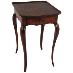 Louis XV Walnut Dish Top Table with Drawer