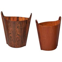 Two Wastepaper Baskets by P. S. Heggin Norway, circa 1965