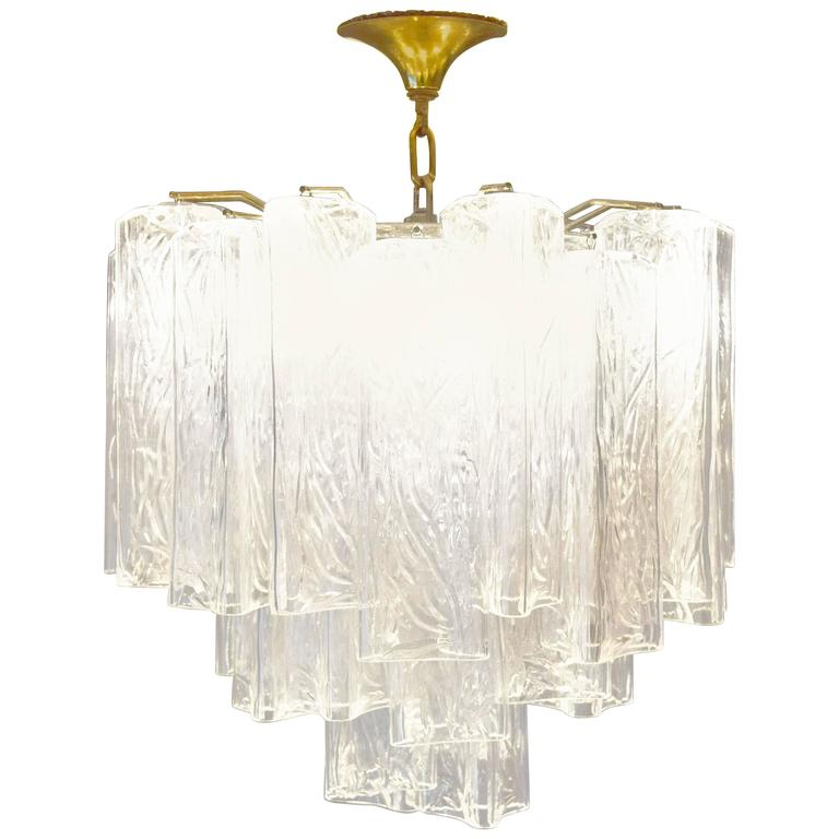 Murano Glass Tronchi Chandelier by Camer