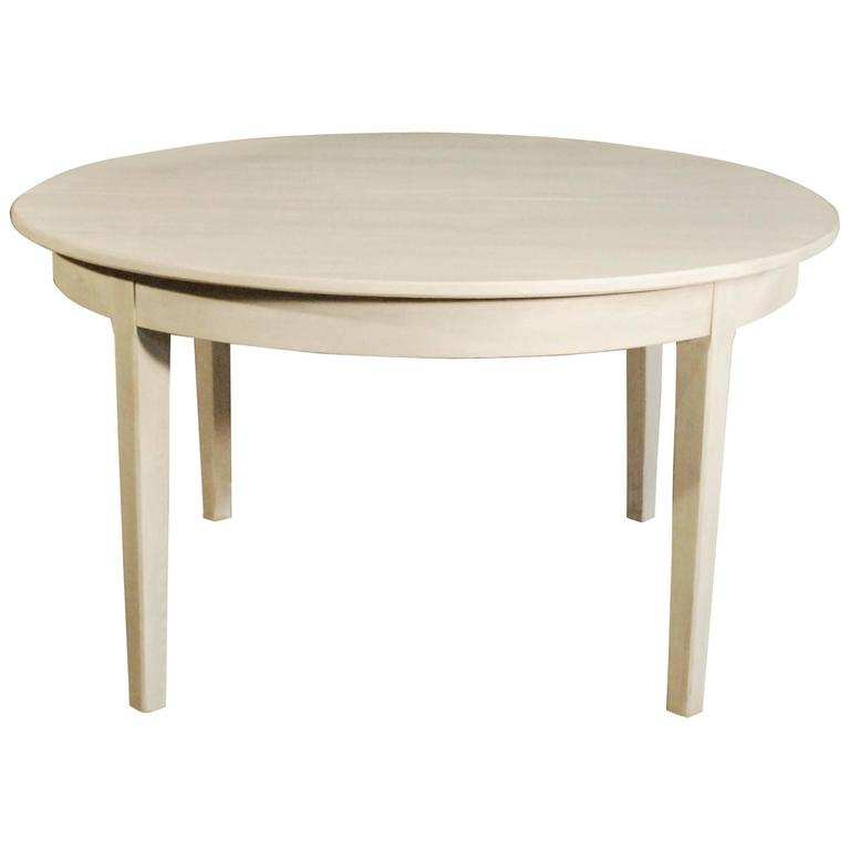 this gustavian style painted dining table with three leaves is no