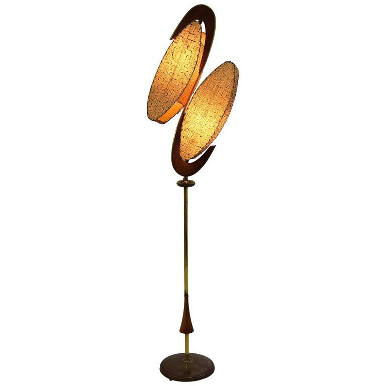 Majestic 1950s Floor Lamp