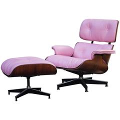 Beautiful Charles Eames Pink Lounge Chair for Herman Miller