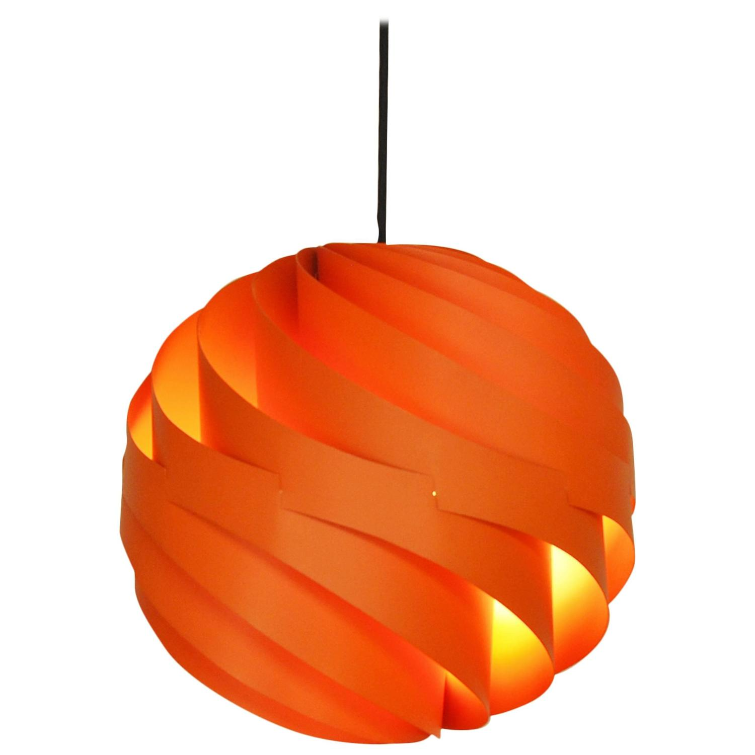 Rare orange turbo hanging pendant by louis weisdorf for lyfa rare orange turbo hanging pendant by louis weisdorf for lyfa denmark 1960s at 1stdibs mozeypictures Images