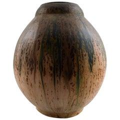 Large French Art Deco Pottery Vase