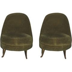 Pair of 1940s Italian Bedroom Chairs