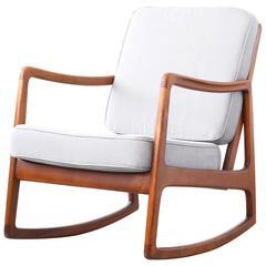 Rocking Chair by Ole Wanscher for France Son, Daverkosen