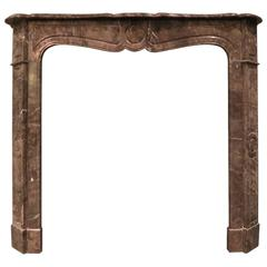 19th Century Pompadour Style French Fireplace