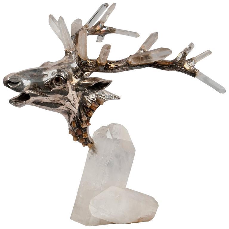 Mellerio dits Meller deer head, ca. 1980, offered by Bernd Goeckler Antiques