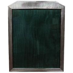 Art Deco English Sterling Silver Engine Turned Photograph Frame
