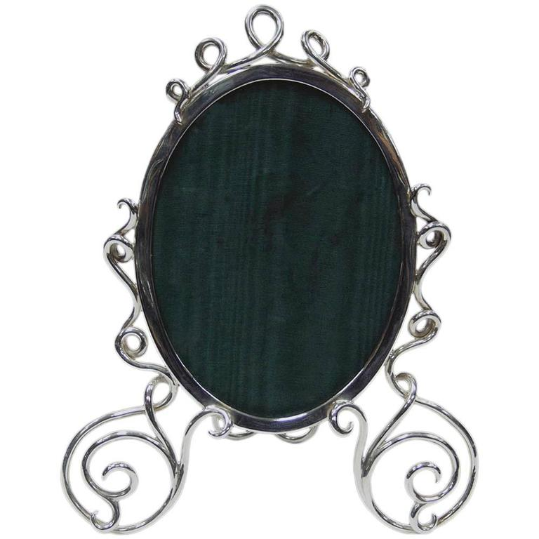 Antique Victorian English Sterling Silver Photo Frame For Sale at ...