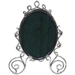 Antique Victorian English Sterling Silver Photo Frame