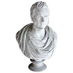 19th Century Plaster Neoclassic Bust