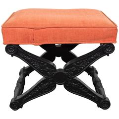 Baker Regency Style X-Base Stool